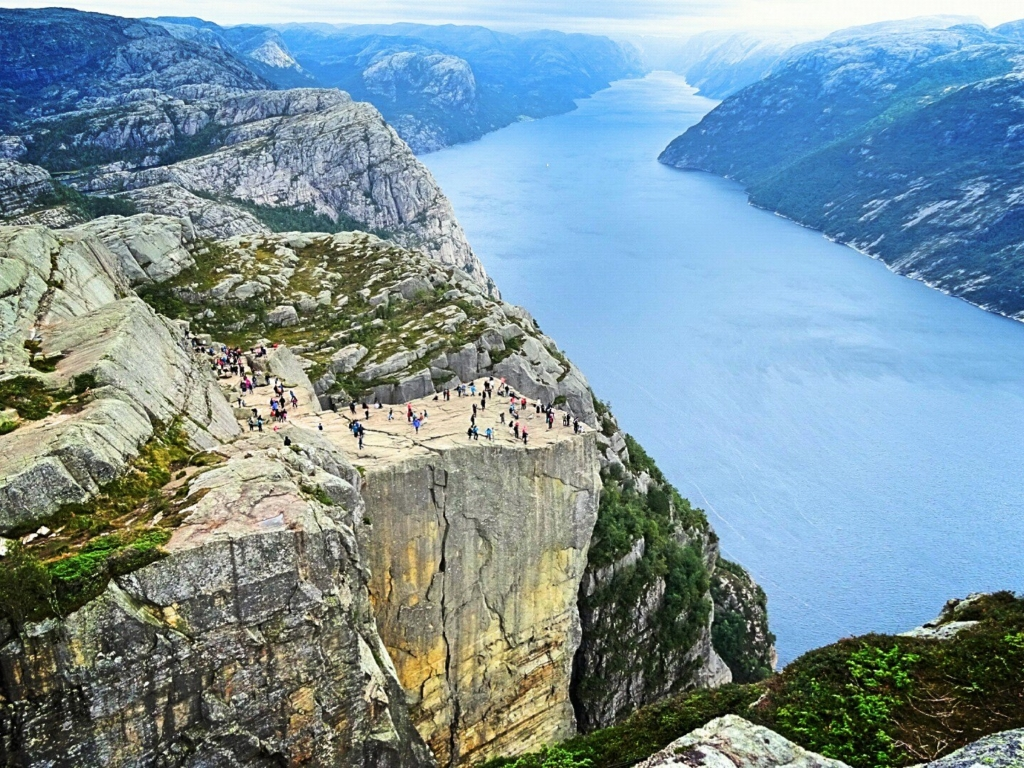 A view of the stunning Pulpit Rock in Norway