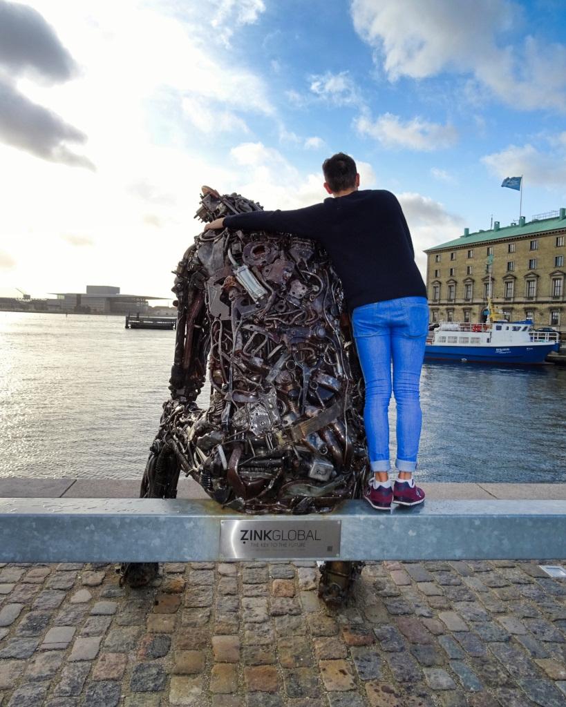 Copenhagen Zinc Global Man Sculpture