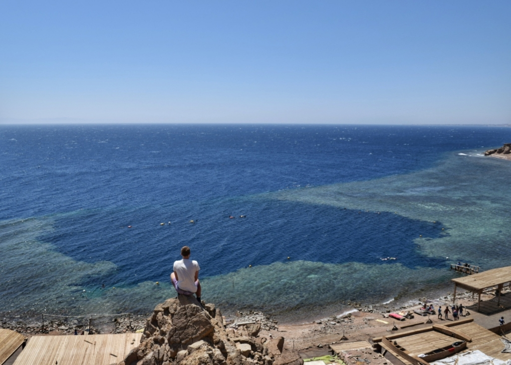 The Famous Blue Hole diving spot in Dahab, Egypt