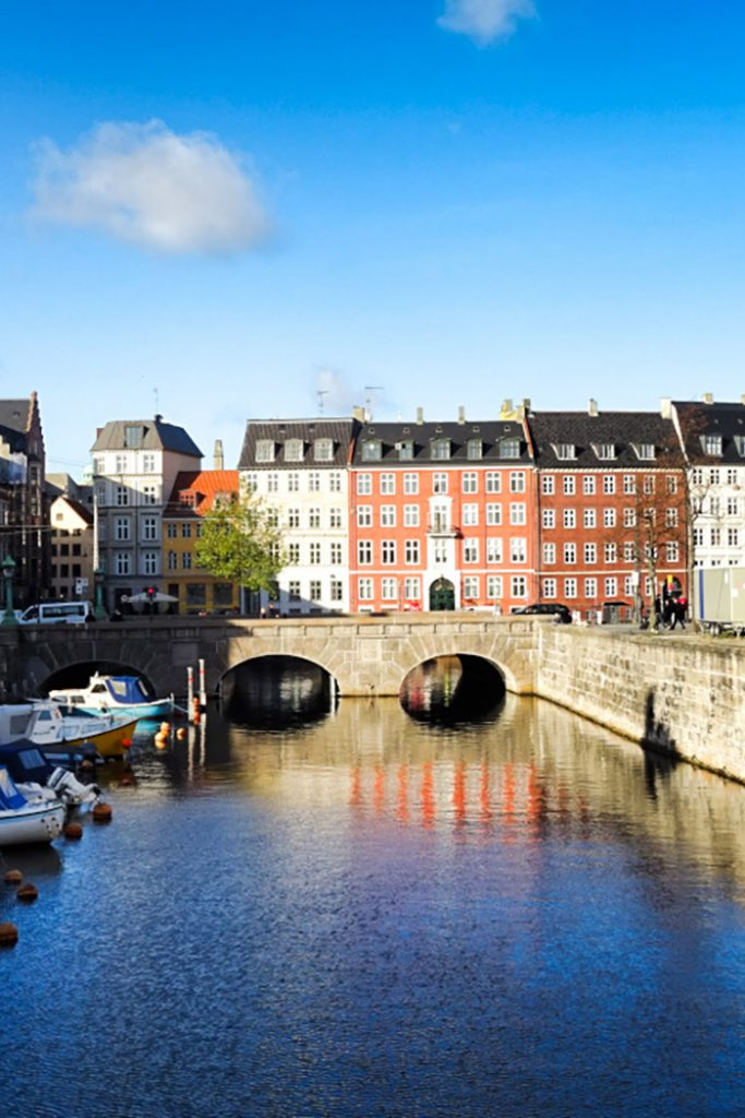 A view of one of the many stunning canals in Copenhagen, Denmark