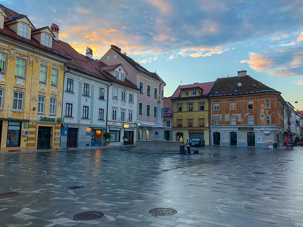 The beautiful city of Kranj, Slovenia