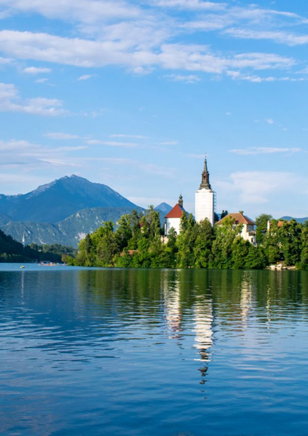 A majestic day on lake bled in Slovenia