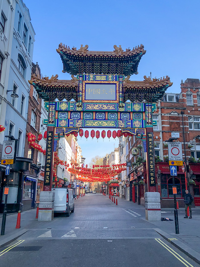 The Gates to China Town in London