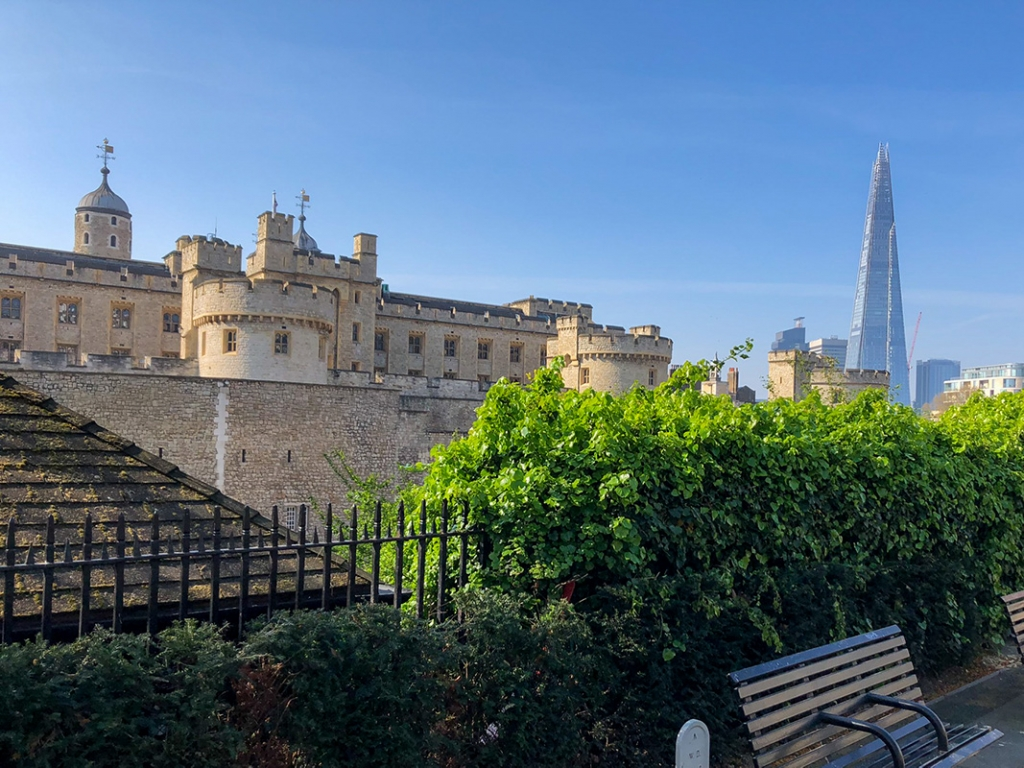 Tower of London with the Shard in the Distant Horizon
